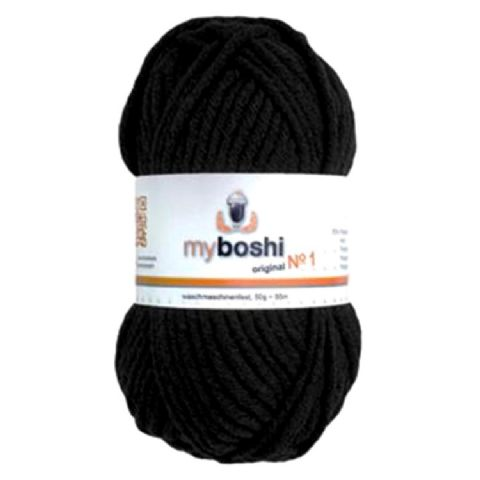 Black 196 - Wool Balls 50g For DMC Myboshi Beanie Hats